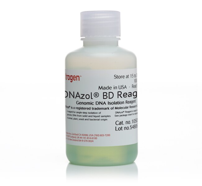 DNAzol® BD Reagent, for isolation of genomic DNA from whole blood