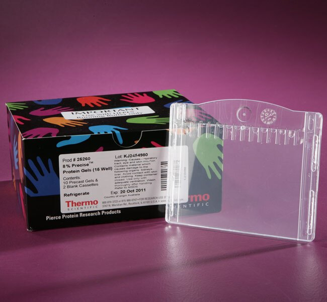Precise™ 8% Tris-Glycine Gels, 6.8 cm x 8 cm x 1 mm, 10-well