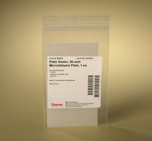Plate Seal for Pierce™ 96-well Microdialysis Plates