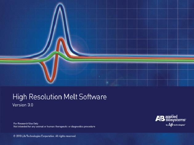 High Resolution Melt Software v3.0.1