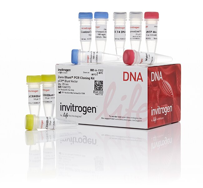 Zero Blunt® PCR Cloning Kit, without competent cells