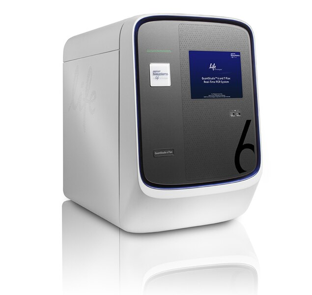QuantStudio™ 6 Flex Real-Time PCR System, 96-well Fast, laptop