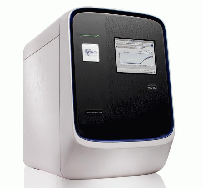QuantStudio™ 12K Flex Real-Time PCR System, Fast 96-well block, laptop