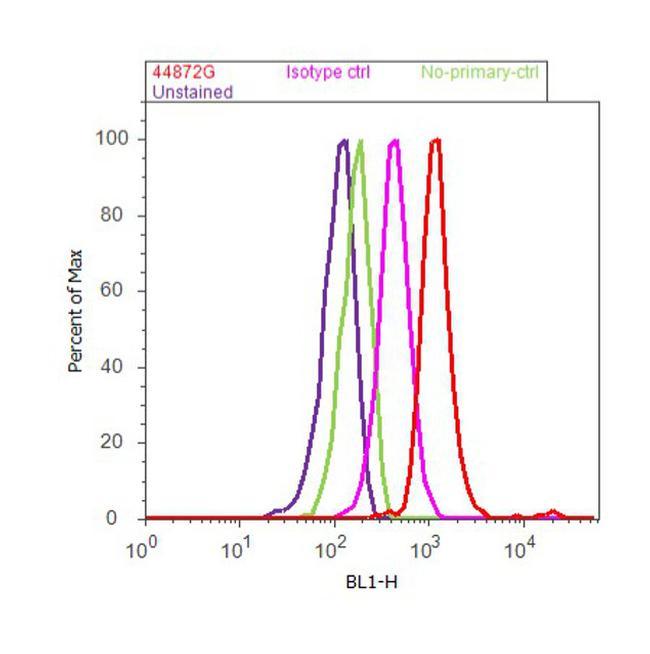 Phospho-ITGB1 (Thr788, Tyr789) Antibody (44-872G) in Flow Cytometry