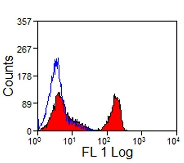 CD4 Antibody (MA1-81196) in Flow Cytometry