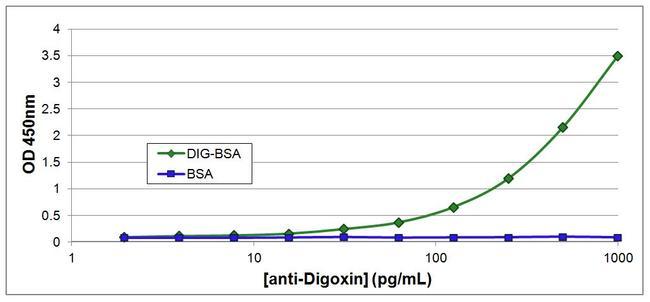 Digoxin Antibody (MA5-14745) in ELISA