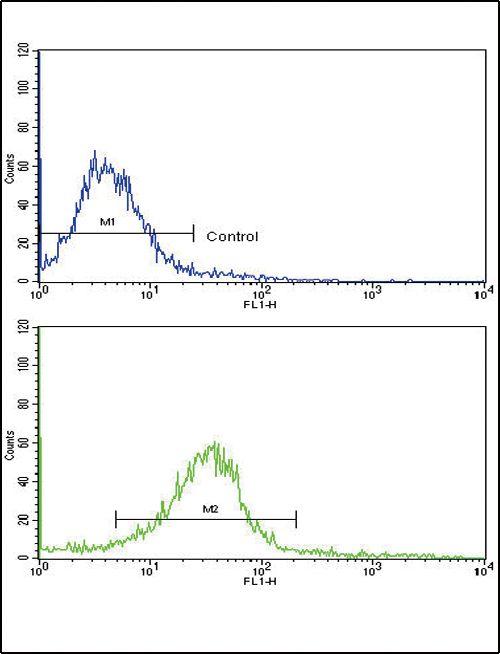 EDA Antibody (PA5-13276) in Flow Cytometry