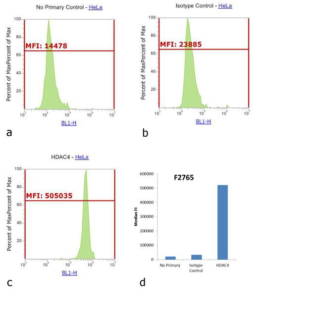 Rabbit IgG (H+L) Cross-Adsorbed Secondary Antibody (F-2765) in Flow Cytometry
