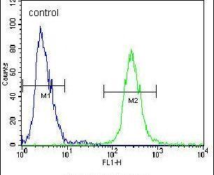 Fibrinogen gamma Antibody (PA5-14209) in Flow Cytometry