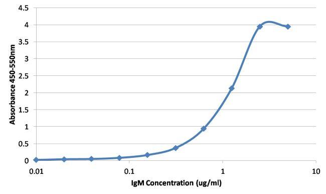 Human IgM Secondary Antibody (MA5-14712) in ELISA