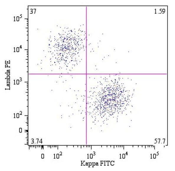 Human Kappa Light Chain Secondary Antibody (MA1-10389) in Flow Cytometry