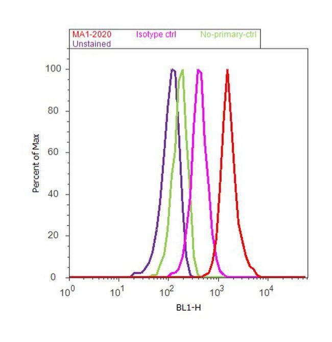 Phospho-ATM (Ser1981) Antibody (MA1-2020) in Flow Cytometry