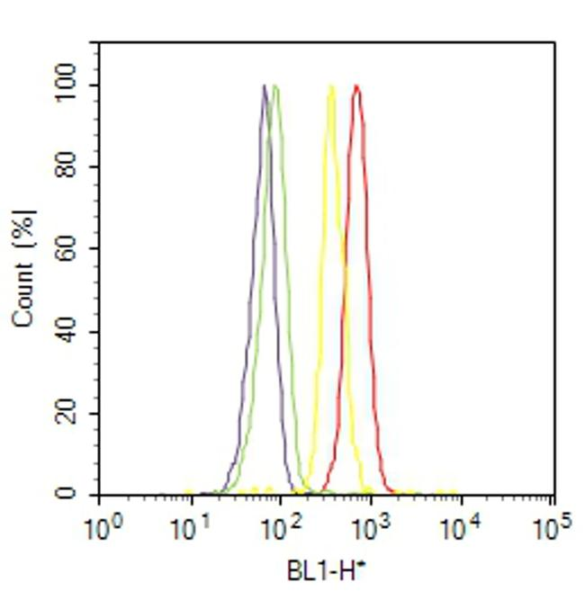 Phospho-Progesterone Receptor (Ser294) Antibody (MA1-414) in Flow Cytometry
