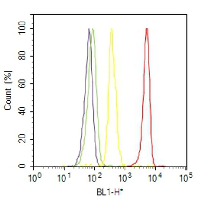 Acetylcholinesterase Antibody (MA3-041) in Flow Cytometry