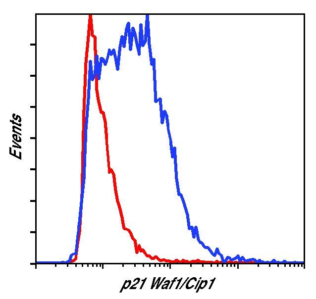 p21 Antibody (MA5-14949) in Flow Cytometry