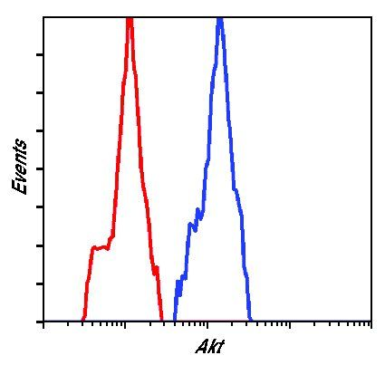 AKT Pan Antibody (MA5-14999) in Flow Cytometry