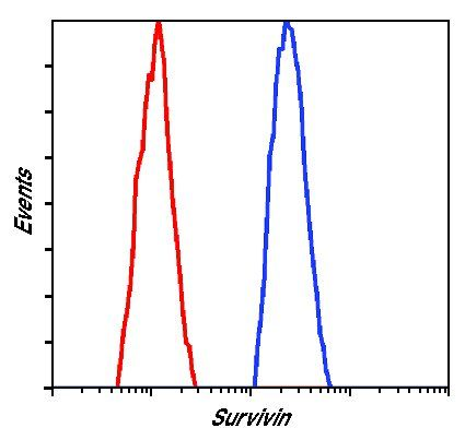 Survivin Antibody (MA5-15077) in Flow Cytometry