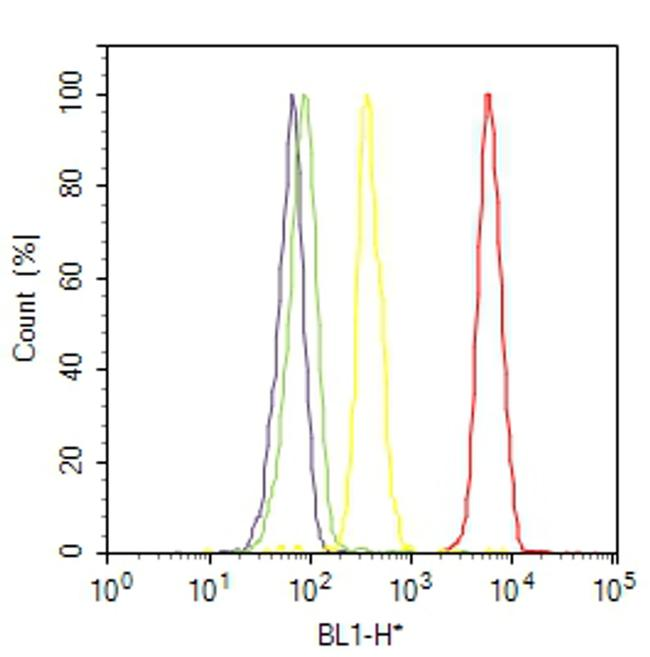 Caspase 3 Antibody (MA5-11521) in Flow Cytometry