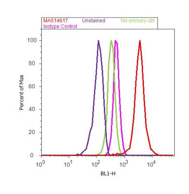p73 alpha/beta Antibody (MA5-14117) in Flow Cytometry