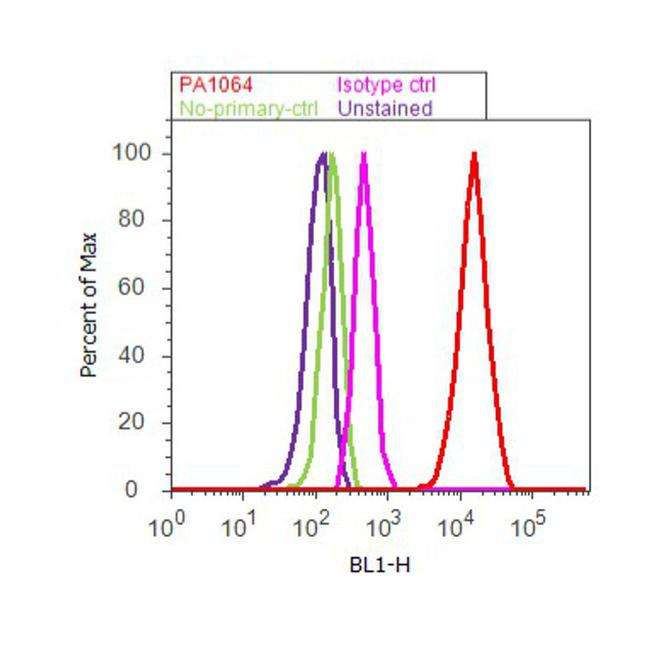 Caveolin 1 Antibody (PA1-064) in Flow Cytometry