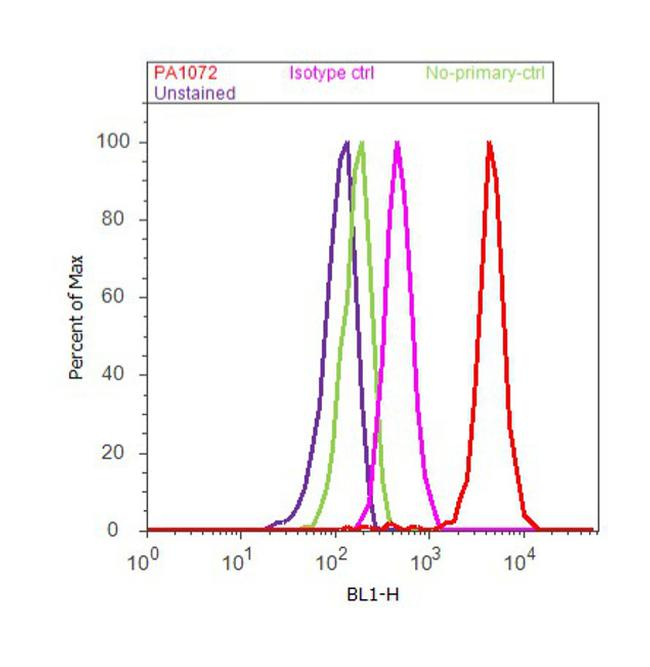 MINT3 Antibody (PA1-072) in Flow Cytometry