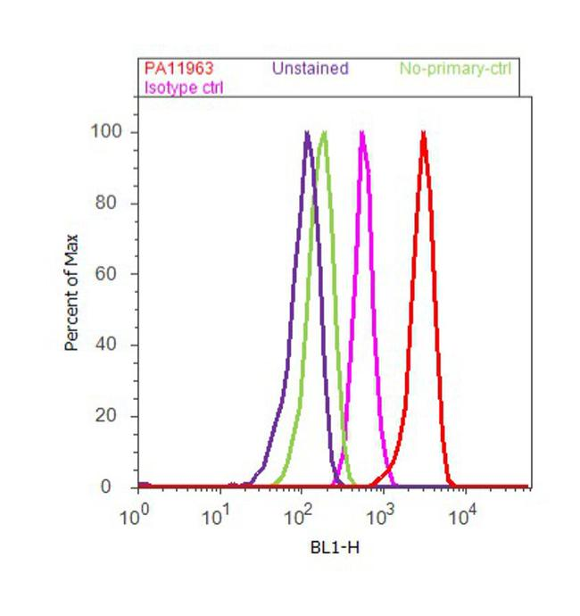 PSMD7 Antibody (PA1-1963) in Flow Cytometry