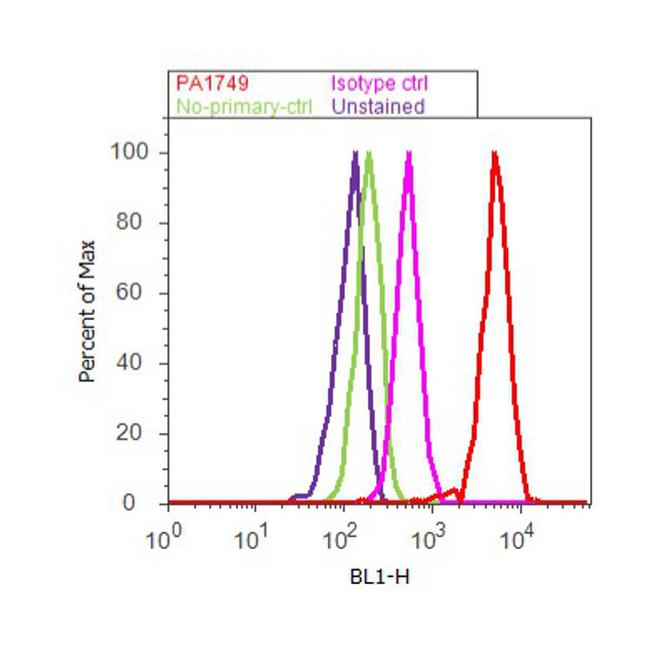 Ataxin 7 Antibody (PA1-749) in Flow Cytometry
