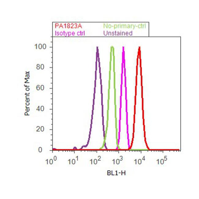 PPAR delta Antibody (PA1-823A) in Flow Cytometry