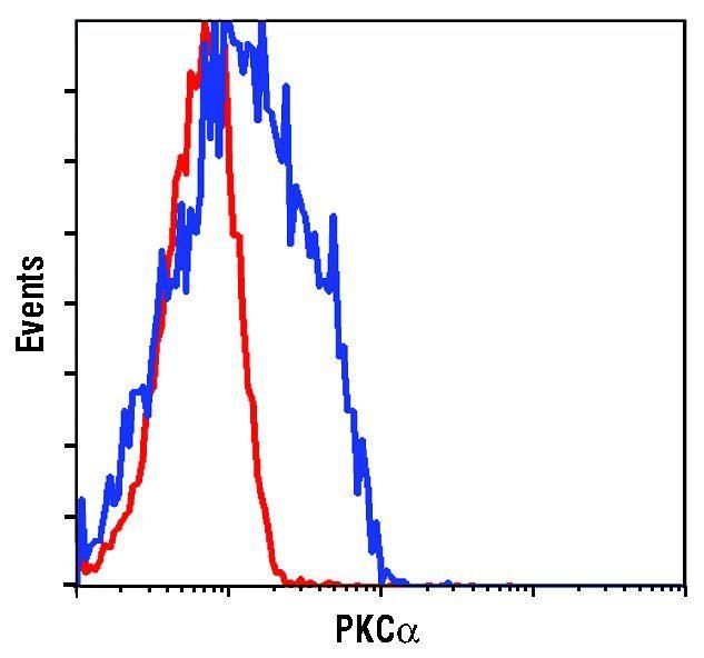 PKC alpha Antibody (PA5-17551) in Flow Cytometry