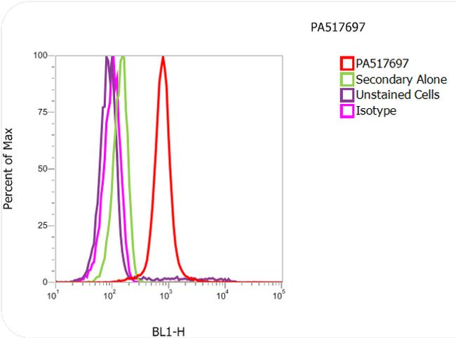Histone H3.3 Antibody (PA5-17697) in Flow Cytometry