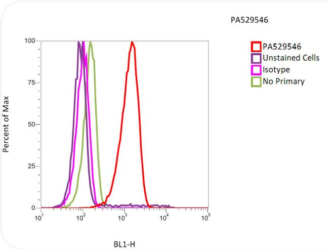 alpha Tubulin Antibody (PA5-29546) in Flow Cytometry