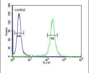 TMEM168 Antibody (PA5-24481) in Flow Cytometry