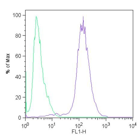 c-Myc Tag Antibody (MA1-980) in Flow Cytometry