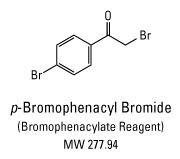 Chemical structure of p-bromophenacyl bromide