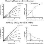 Monitoring Efficacy of a Growth Promoter or Inhibitor