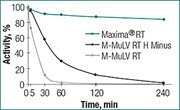 High thermostability of Maxima Reverse Transcriptase at 50°C